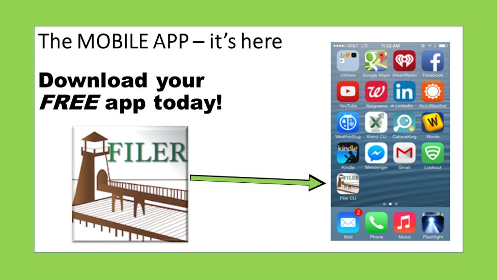 The MOBILE APP – it's here