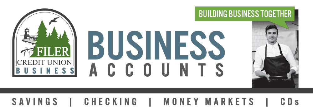 business accounts logo outlining savings, checking, money markets and cds